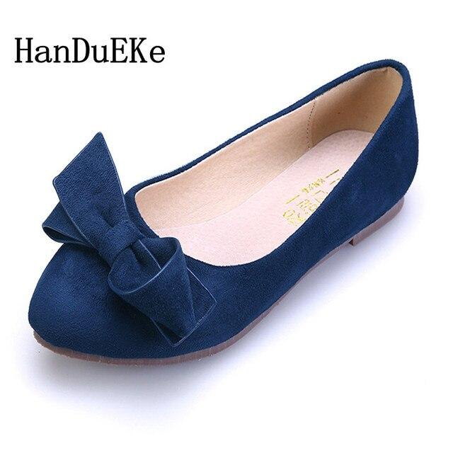 HanDuEKe 2018 precioso arco cerdo Suede cuero zapatos planos mujer primavera  clásicos Casual mujeres pisos zapatos a7fb1ad03db