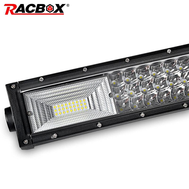 324W 459W 594W 22 32 42 Inch Curved 3 Row LED Light Bar Spot Flood Combo