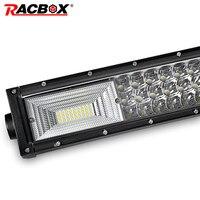 324W 459W 594W 22 32 42 Inch Curved 3 Row LED Light Bar Spot Flood Combo 12V 24V Car Truck 4WD ATV UTV LED Driving Work Lamp Bar