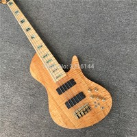 New 5 string bass, butterfly birdseye maple fingerboard, real photos, factory wholesale.Can be customized