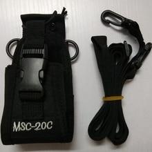 워키 토키 캐리 가방 MSC 20C 나일론 가방 홀더 baofeng UV 9R 5S R760 9700 워키 토키 액세서리에 대한 워키 토키 라디오
