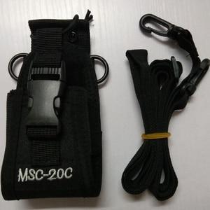 Image 1 - Walkie talkie bolsa MSC 20C bolsa de nylon titular Radio Walkie Talkie para $TERM impacto baofeng UV 9R 5S R760 9700 accesorios de walkie talkie