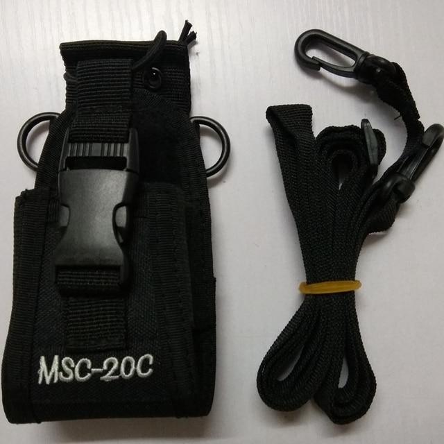Walkie talkie bolsa MSC 20C bolsa de nylon titular Radio Walkie Talkie para $TERM impacto baofeng UV 9R 5S R760 9700 accesorios de walkie talkie