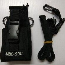 Walkie talkie torba do noszenia MSC 20C nylonowa torba uchwyt na Radio Walkie Talkie dla baofeng UV 9R 5S R760 9700 akcesoria walkie talkie
