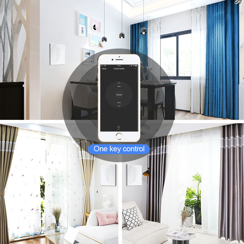 HOT OFFER) WiFi Smart Curtain Switch Smart Life For Electric