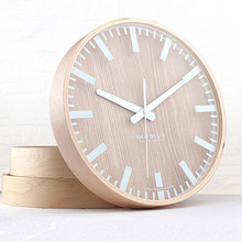 Refinement Pastoral Household wood wall clock Brief small fresh wood wall clock
