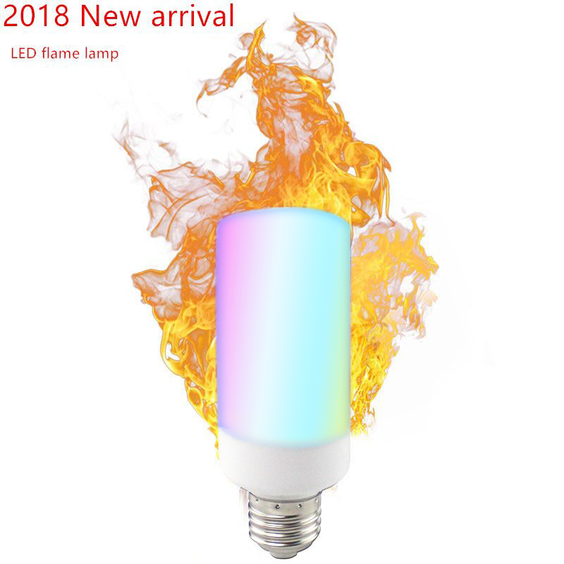 4X New Colorful E27 E14 B22 2835SMD Flame LED lamp Effect Fire Filament Bulb 66 99LEDS Flickering indoor outdoor Lights 85~265V