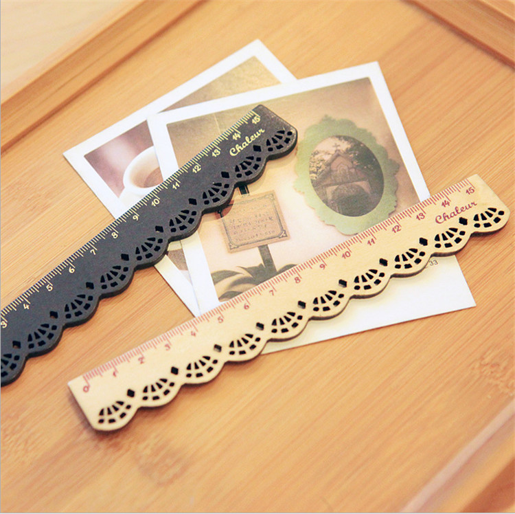 500 Pcs Wood Straight Rulers Oppssed Chiban Drawing Template Lace Sewing Ruler Stationery Office School Supplie