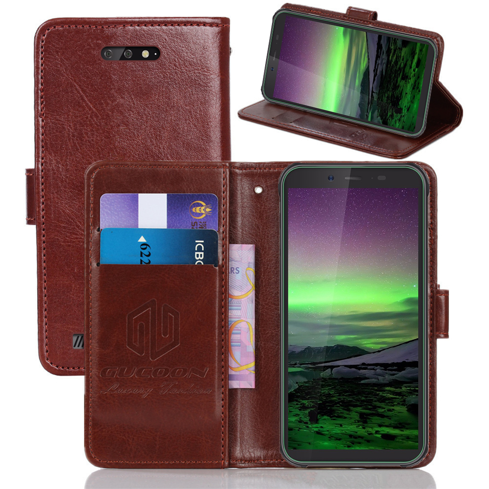 GUCOON Classic Wallet Case for Blackview BV5500 Pro Cover PU Leather Flip Case for Blackview Max 1 Fashion Phone Bag Shield