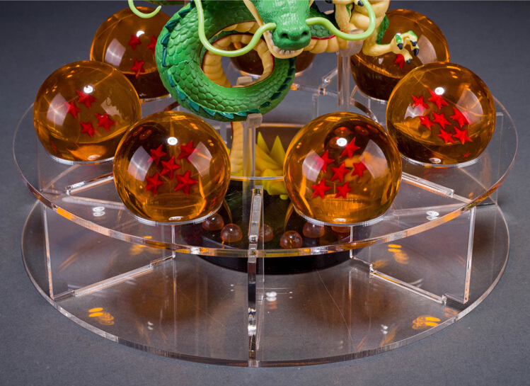 Acrylic 7PCS Crystal Dragonballs Dragon Ball Z Shenron Model With Balls Set