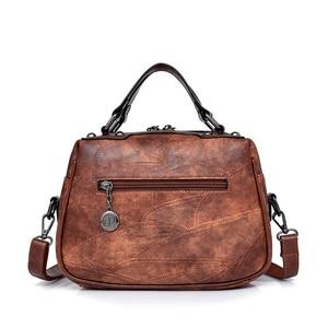 Image 4 - Nouvelle mode en cuir femmes sac à main bureau dames épaule sacs à bandoulière à la main en peau de mouton en cuir messager sacoche sacs Rivet