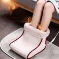 Prise EU/US chauffe pieds électrique chaud chaleur lavable 5 Modes réglages de chaleur coussin chauffant chauffe pieds thermique Massage Cosy chauffant|Coussins chauffants électriques| |  -