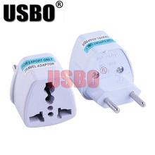 White 10A 250V Brazilian standard power adapter plug Italy Brazil Switzerland Argentina travel universal socket converter