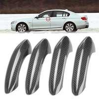 F07 F10 Real Carbon Fiber 4 stücke Auto Außentür Griff Abdeckung Trim Für BMW 5 6 7 Serie F07 f10 F11 520i 528i 535i M5 F06 M6