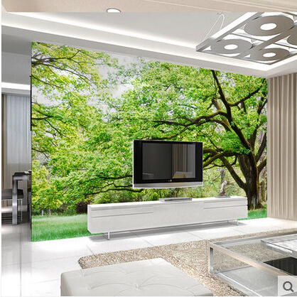 3D Embossed Green Tree Wall Murals Large Landscape Wallpaper Bedroom Wall  Decor Oil Painting PVC Self Adhesive Wall Paper Paste In Wallpapers From  Home ...
