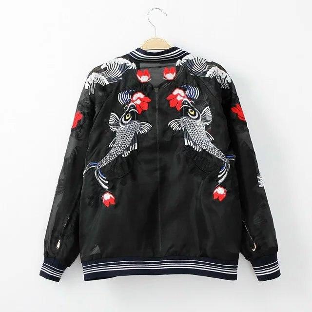 HTB13F11QpXXXXXwapXXq6xXFXXXm - Bomber Fish koi Embroidery Jacket
