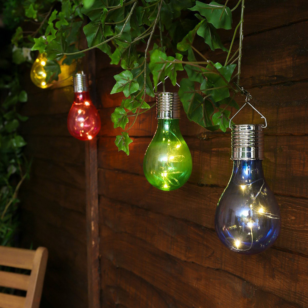 Colorful Lamp Bulb Waterproof Solar Rotatable Outdoor Garden Camping Hanging LED Light Festival Party Supplier Dropship Aug31