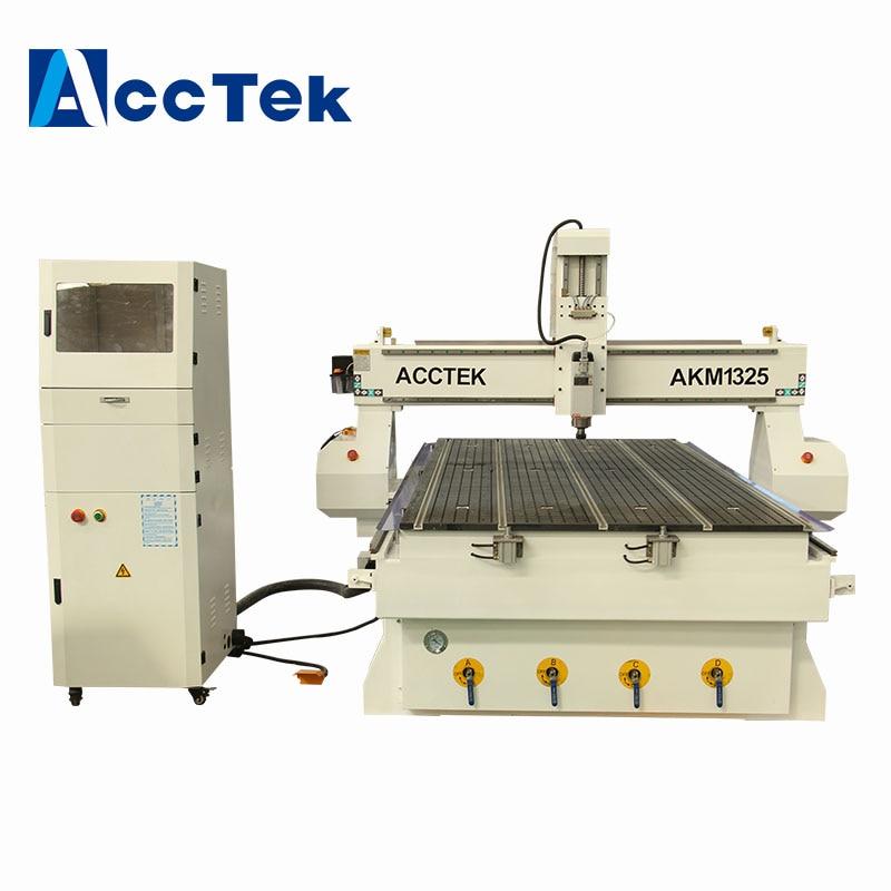 Support technique fourni AccTek 3D CNC Machine de gravure sur bois 1325 CNC fraiseuse avec Certification Ce