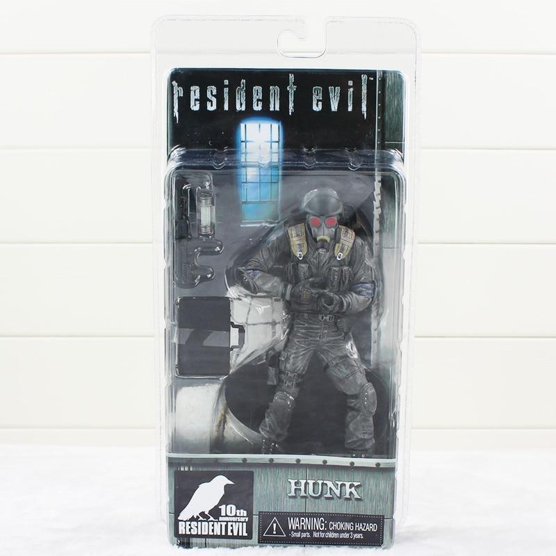цена на 17cm Game Resident Evil Figure Toy Biohazard Hunk With Mask NECA Model Doll
