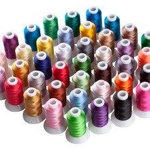 Simthread 40 Brother цвета полиэфирная вышивальная машина нить плюс 5 шт. размер пластиковые катушки
