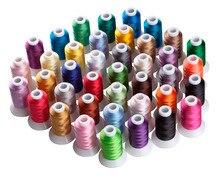 Швейная нить Simthread 40 Brother, нить из полиэстера для вышивания, 5 шт., пластиковые бруски размера Amachine launchthread industrial sewing machinethread gold  АлиЭкспресс