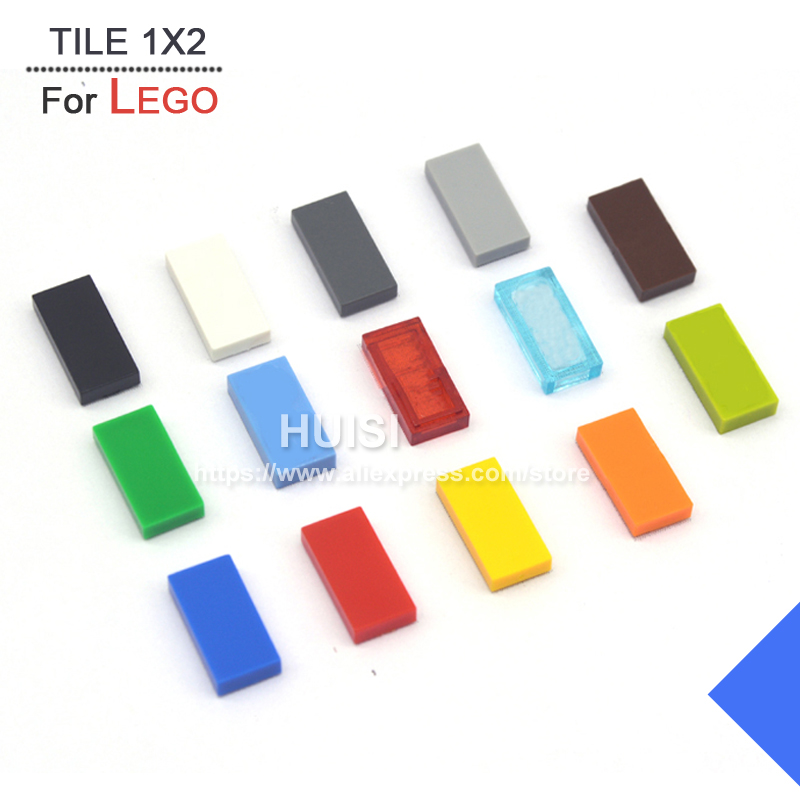 5 x Lego 3069 Plate Smooth Flat Tile 1x2 with Groove New New Dark Grey