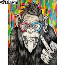 DIAPAI 5D DIY Diamond Painting 100% Full Square/Round Drill Animal monkey Embroidery Cross Stitch 3D Decor A21480