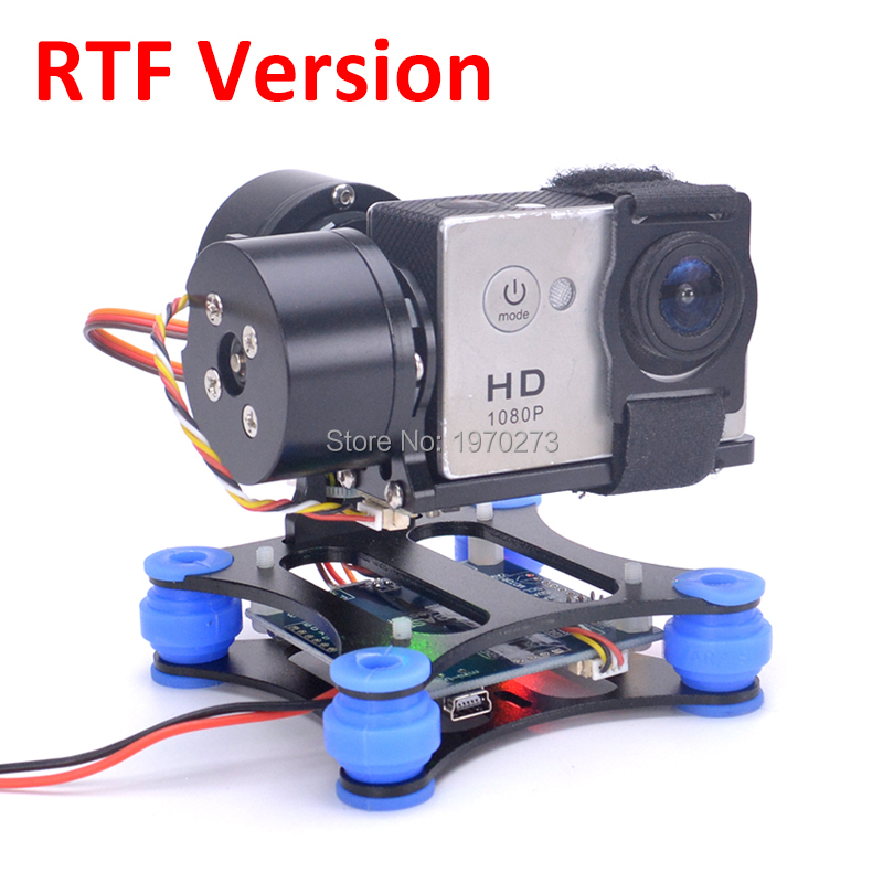 RTF 2 Axis Brushless Gimbal Frame 2208 Motors BGC Flight Controller for Gopro 3 4 SJ4000