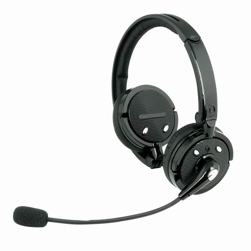 Boom Mic Noise Canceling Bluetooth Headset Over the Head