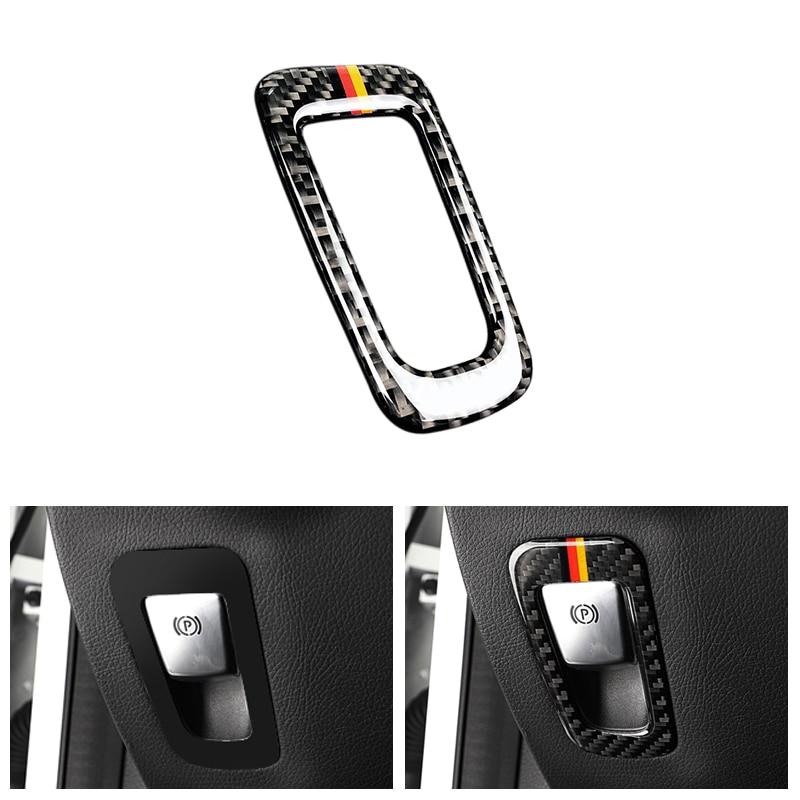 Freno de mano electrónico de fibra de carbono para automóvil embellecedor de cubierta de marco de botón para Mercedes Benz Clase C W205 C180 C200 C300 GLC260