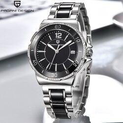 Pagani Merk Dames Jurk Quartz Horloges Relogio Feminino Diamanten Prachtige Analoge Display Keramische Zwarte Horloge Voor Vrouwen