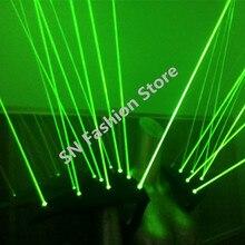 Hh09-1 Зеленый цвет лазерной жилет 20 штук лазерные головки Лазерная плеча светодиодные панели партия бальные костюмы диско DJ реквизит световой одежда