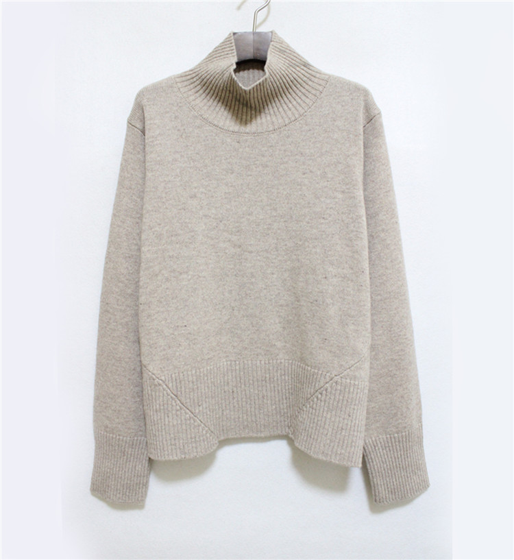 7e69b488d7a LIMITED EDITION MAUVE CABLE KNIT WOOL SWEATER Roll neck long sleeves ...