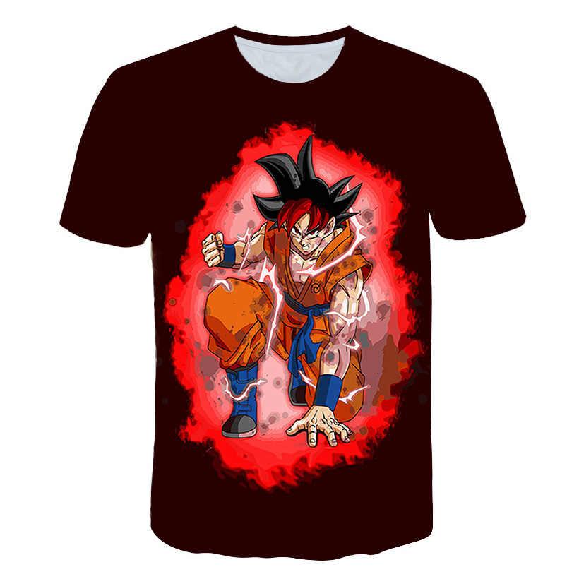 Dragon Ball Z мужские летние футболки с 3D принтом супер сайян Сон Гоку черный Zamasu Vegeta Jiren Dragon Ball футболка Топы футболки