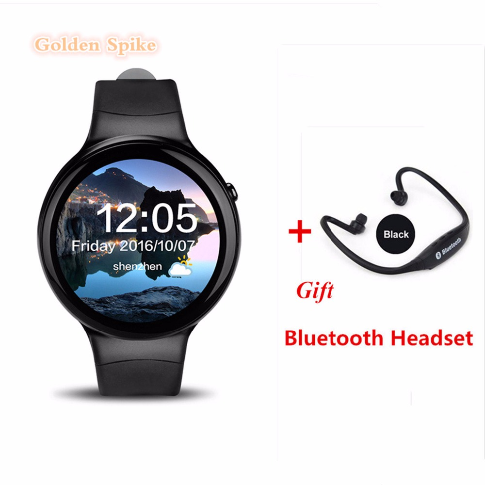 Newest Android 5.1 Smart Wtach MTK6580 1GB RAM+16GB ROM Heart Rate Monitor Smart Watch With 3G WiFi GPS PK Kingwaer KW88 X5 PLUS