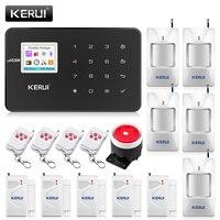 KERUI G18 Black Panel Wireless GSM Home Security Alarm System Burglar Alarm Sensor Kit Android IOS Phone APP Remote Control