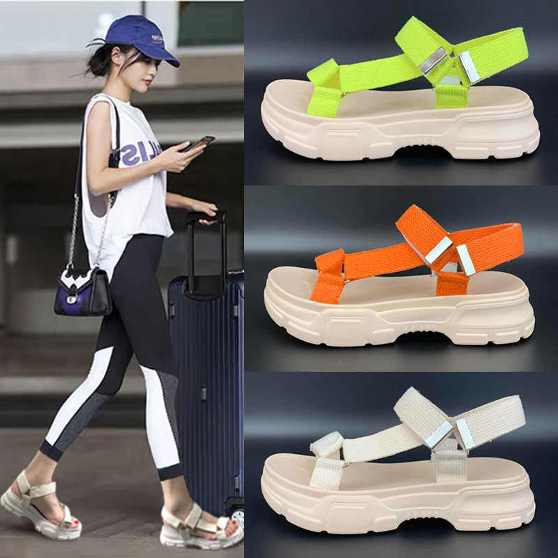 Sandalias mujer 2019 รองเท้าผู้หญิงรองเท้าแตะ zapatos de mujer ฤดูร้อนแฟชั่นแบรนด์ Gladiators chaussures femme Lady Casual footware