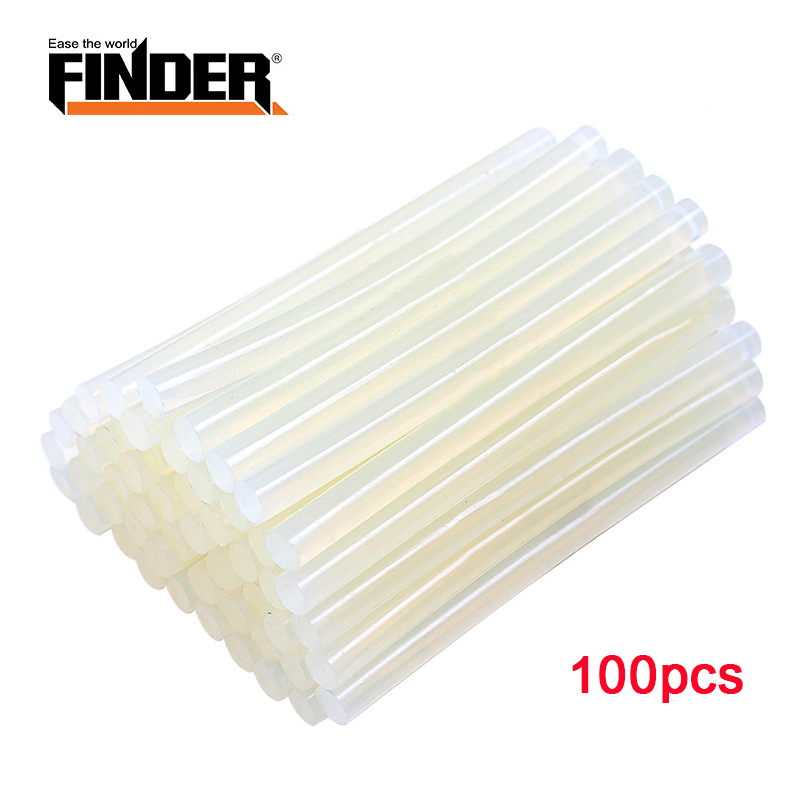 100pcs/ Lot Hot Melt Glue Sticks 7mm/ 11mm Diamter 195/ 300mm Length For Electric Glue Gun High Viscosity  Repair Tools