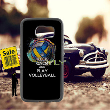 keep calm and play volleyball TPU edge phone cases for samsung s6 plus s7 s8 s9 s10 lite e note8 note9 cover case
