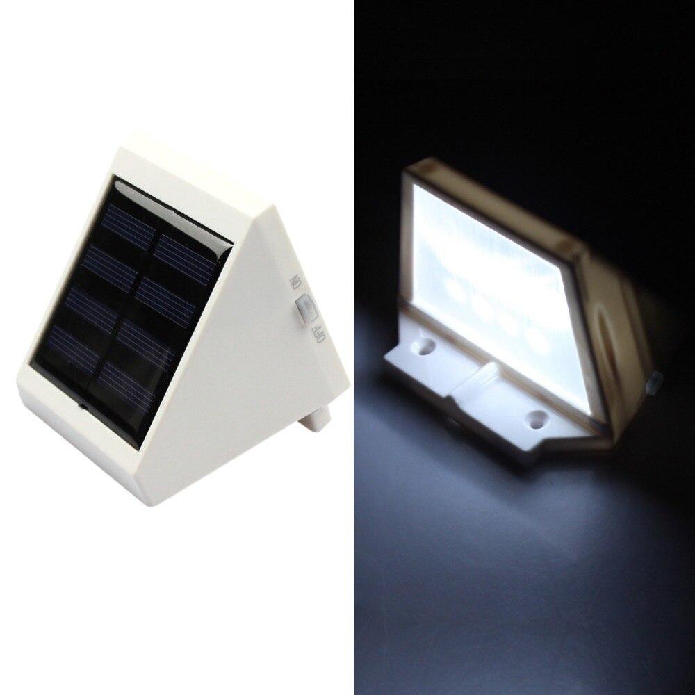 28+ [Outdoor Solar Wall Light White] - Goeswell 4 Led Light Solar Garden Waterproof Outdoor ...