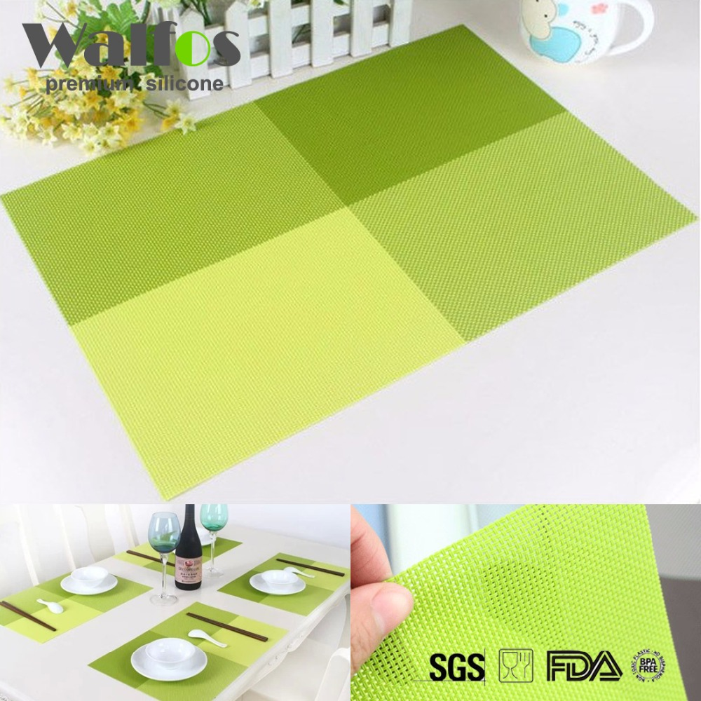 Walfos Fashion PVC Dining Table Placemat Europe Style Kitchen Tool Tableware Pad Coaster Coffee Tea Place Mat