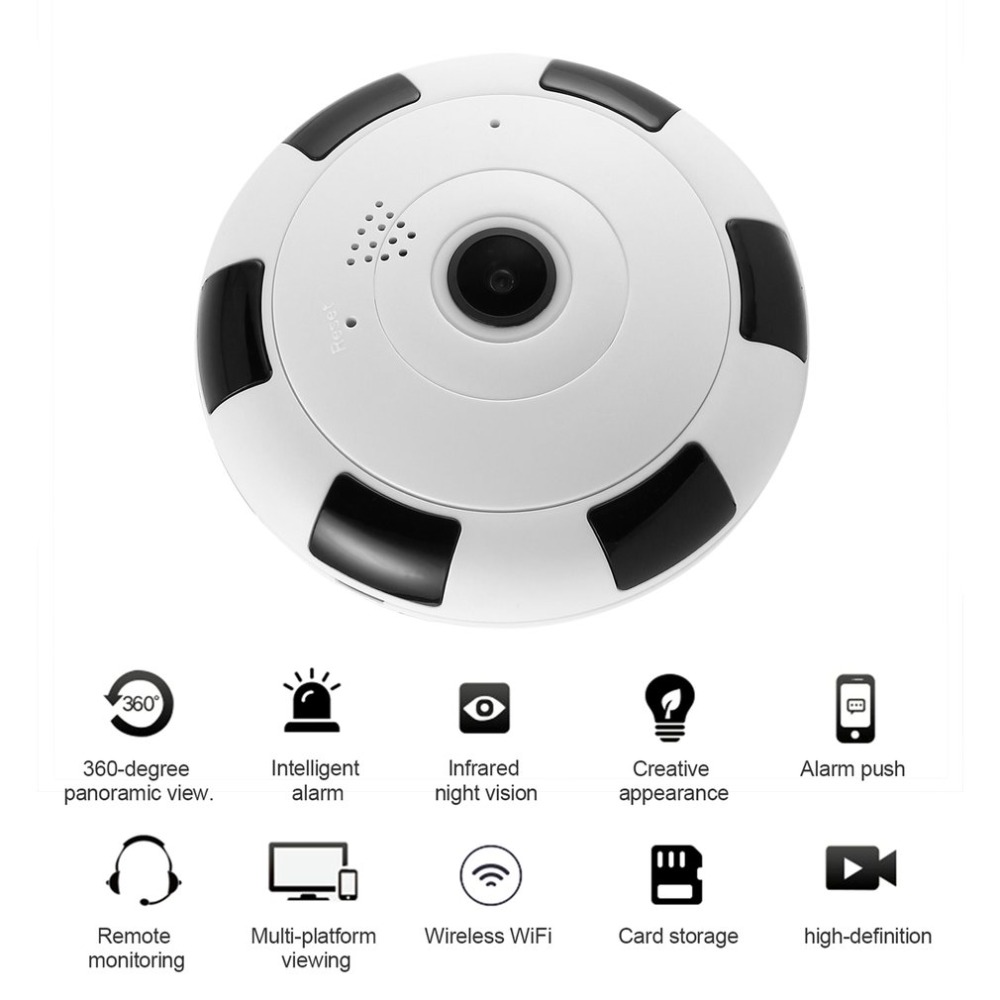 WiFi Panoramic Camera 360 Degree 960P 1080P HD Wireless Surveillance IP Network Home Security Monitor Camera IR Night VisionWiFi Panoramic Camera 360 Degree 960P 1080P HD Wireless Surveillance IP Network Home Security Monitor Camera IR Night Vision