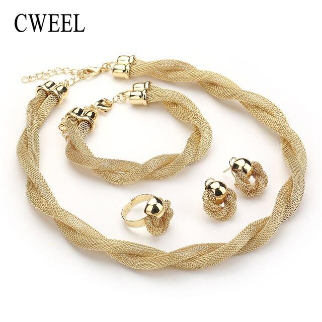 Ensemble de bijoux CWEEL  collier bracelet bague 2