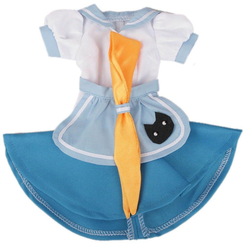 [ Wamami ] 220 # bleu et blanc robe de demoiselle / costume 1/4 MSD AOD DOD DZ BJD Dollfie