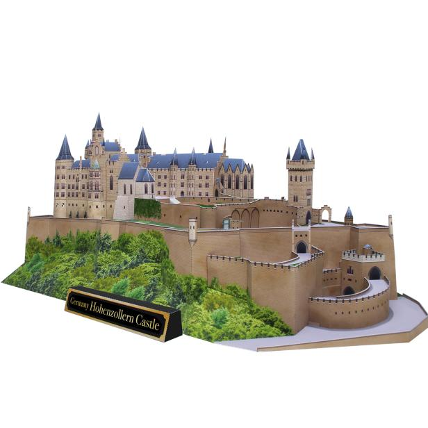 DIY Hohenzollern Castle, Germany Craft Paper Model 3D DIY Education Toys Handmade Adult Puzzle Game