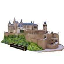 DIY zamek Hohenzollern niemcy papier typu kraft Model 3D DIY zabawki edukacyjne Handmade Puzzle dla dorosłych gry tanie tanio MPM-019 Denki Lin Unisex 8 lat DIY 3D Paper Model Far from fire Film i telewizja 23 page as picture shown