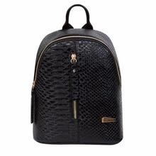 2017 Hot Chain Women Leather Backpacks School bags Rucksacks Travel Backpack female Shoulder Women Bags Mochila escolar feminina