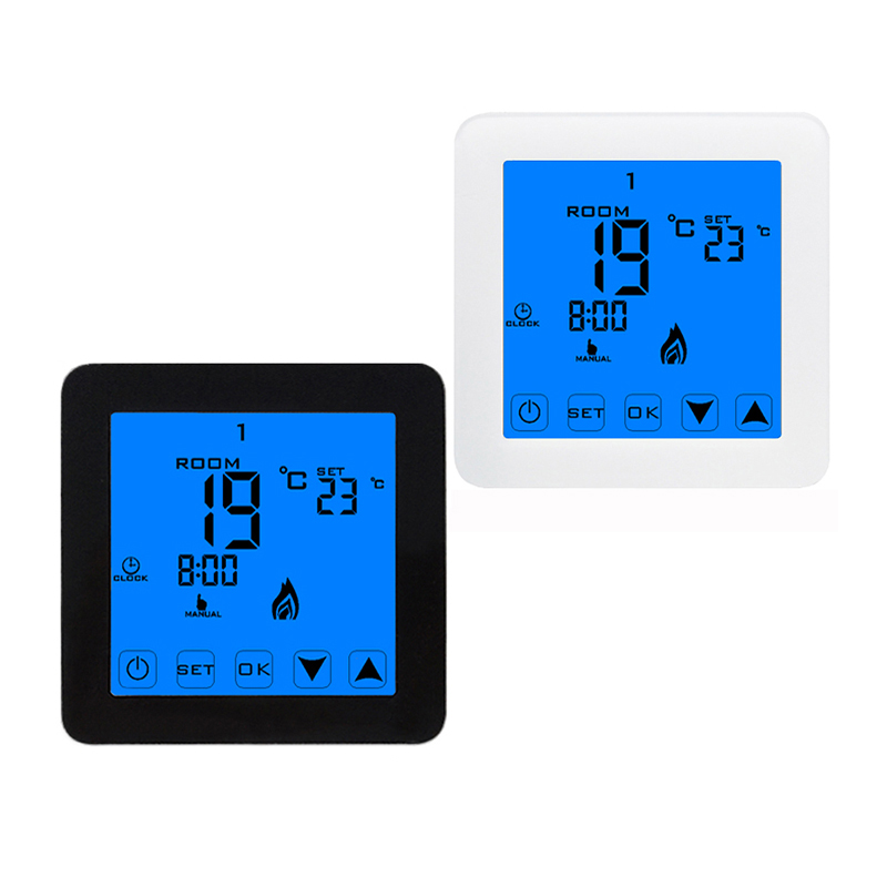 HY08 3A 16A MINCO HEAT Thermoregulator LCD Touch Screen Thermostat For Electric Heating Floor System Room Temperature Controller