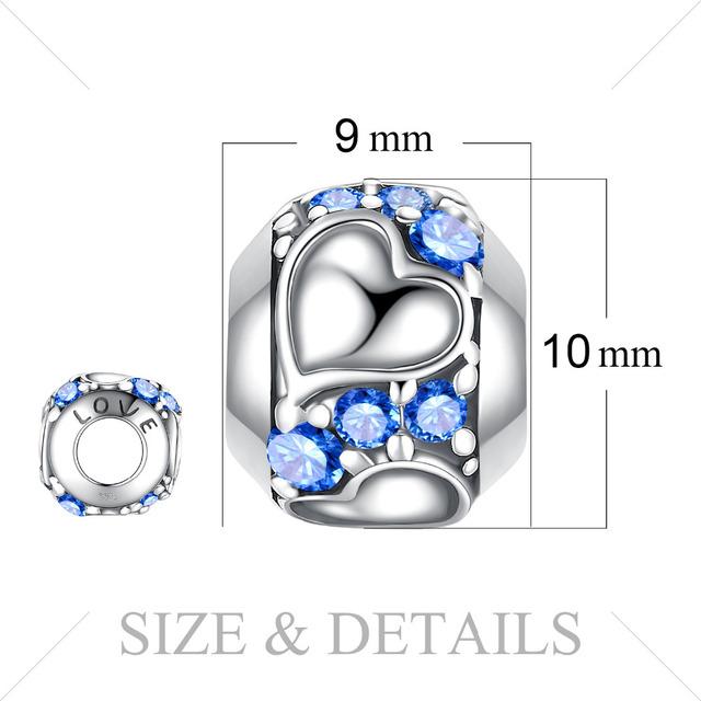 Cubic Zirconia Heart Charm