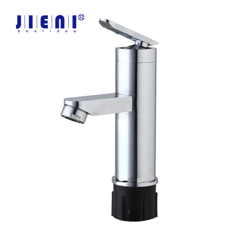 JIENI US Chrome finish Bathroom Basin Faucet small Single Handle with Vanity Sink Bathroom Mixer water Tap